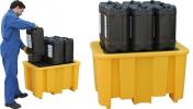 Поддон - контейнер для 1 х 200 л бочки (желтый)