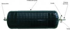 Пневмозаглушка масло-бензостойкая, герметизатор для трубы внут. диам. 300-500 мм, выносной клапан вентиля на рукаве подачи воздуха длиной 2 м
