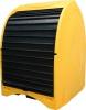 Бокс защитный мобильный для поддона-контейнера на 4 бочки, емкость 250 л