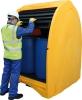 Бокс защитный мобильный для поддона-контейнера на 4 бочки, емкость 485 л