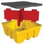 Поддон - контейнер для 1 IBC куба, c решеткой (штабелируемый)