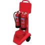 Пост пожарный мобильный для 2х огнетушителей диам. до 200 мм, ведра, сигнала тревоги