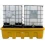 Поддон - контейнер, 1200 л, для 2х IBC кубов, опора, решетка, для ЛРТЖ