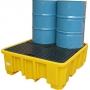 ЛРТЖ поддон-контейнер, КВАДРАТ, на 4 бочки, функция слива